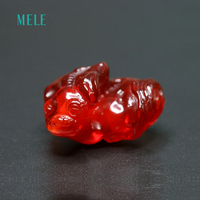 Natural fire opal carving, Mexico fire opal, 41.3 carats, 19mm*29mm,deep red color vivid carving, really rare treasure