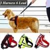 Buffer Large Dog Harness Strong Outdoor Drawstring Walking Medium Big Breeds Animals Pet Collar With Lead