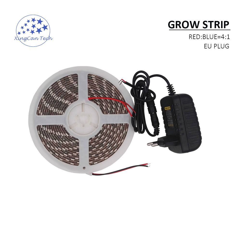 5meter grow light for seed plant flower indoor use growing light led SMD red and blue hydroponic led