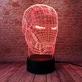 Iron Man Figurine Ironman Luminous 3D Illusion LED NightLight Colourful Flashing Light Avengers Figure Iron Man Mask Model Toys