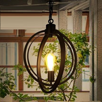 Retro Loft Style Creative Iron Edison Pendant Light Fixtures Vintage Industrial Lighting For Dining Room Circular Hanging Lamp loft style creative iron cage pendant light fixtures vintage industrial lighting for dining room edison hanging lamp lamparas