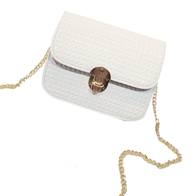 Women leather Shoulder Bag Satchel Handbag Retro Messenger Bag Chain Shoulder Straddle the lady square bag