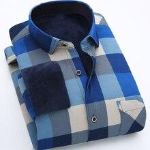 2017 New Arrival font b Men s b font shirt Long Sleeve Shirt Mens Warm Shirts
