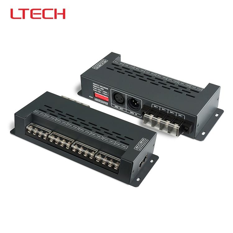 LT-898 DMX512 CV Led Decoder;DC5-24V input;6a*8CH output for single color/bi-color/rgb rgbw led strip lights dmx512 digital display 24ch dmx address controller dc5v 24v each ch max 3a 8 groups rgb controller