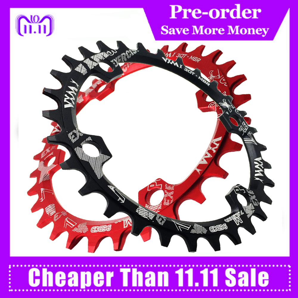 VXM Oval Round Bicycle Crank&Chainwheel 96BCD Narrow Wide Chainring 32T/34T/36T/38T For M7000 M8000 M9000 Bicycle Parts shimano slx m7000 crankset 1x11 speed chain wheel crank with deckas 96bcd narrow wide chainring 30t 32t 34t 36t 38t with bb52