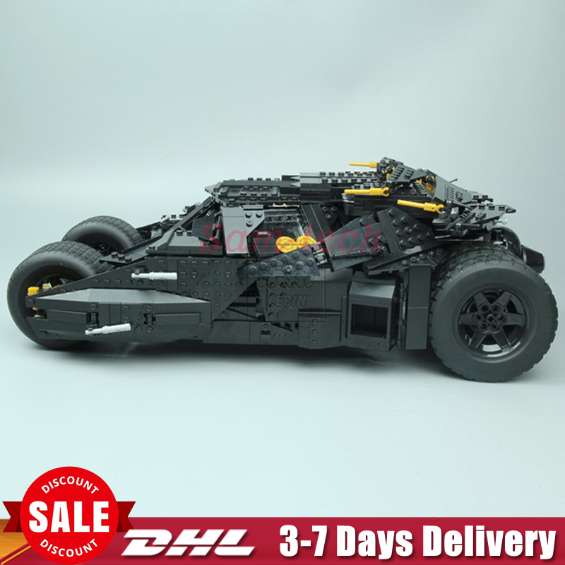 LEPIN 07060 Genuine Super Hero Movie Series The Batman Armored Chariot Set 76023 Educational Building Block Brick Boy Toys 7111 hot compatible legoinglys batman marvel super hero movie series building blocks robin war chariot with figures brick toys gift