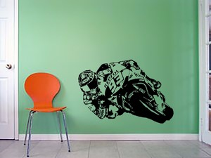 Виниловые настенные наклейки DIYWS для мотоцикла, мотоцикла, мотора, велосипеда, наклейки для гостиной, детской комнаты, домашнего декора