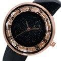 Encanto Número Roman relógio de Strass Senhoras Relógio de Quartzo Relógio de Pulso Mulheres Casual e Elegante Preto/Branco/Marrom/Vermelho de Couro Meninas Presentes à moda