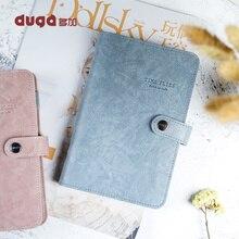 2019 caderno espiral viagem diário bloco de notas couro do plutônio do vintage livro substituível papelaria presente viajante diário