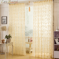 Home Textile Flower Embroidered Chinese Luxury Window Curtains Fabric Tulle Sheer Curtains For Bedroom Living Room