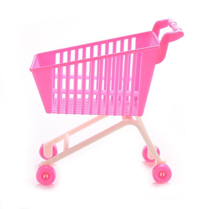 1pcs Shopping Cart for barbie Kids Mini Cute shoes ,dress Supermarket Pretend Play Handcart Mode Storage Accessores es030