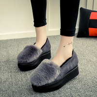 Women Winter Slippers Slides Ladies Warm Home Slippers Non Slip Shoes Outdoor Pompom Plush House Shoes