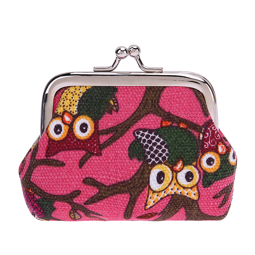 Printing Wallet Owl Canvas Change Coin Purse Clutch Bag Cartoon Coins Bag Small Pouch Female Wallet Handbag Money Bags 2017 fashion women coin purse lady vintage flower small wallet girl ladies handbag mini clutch women s purse female pouch money bag