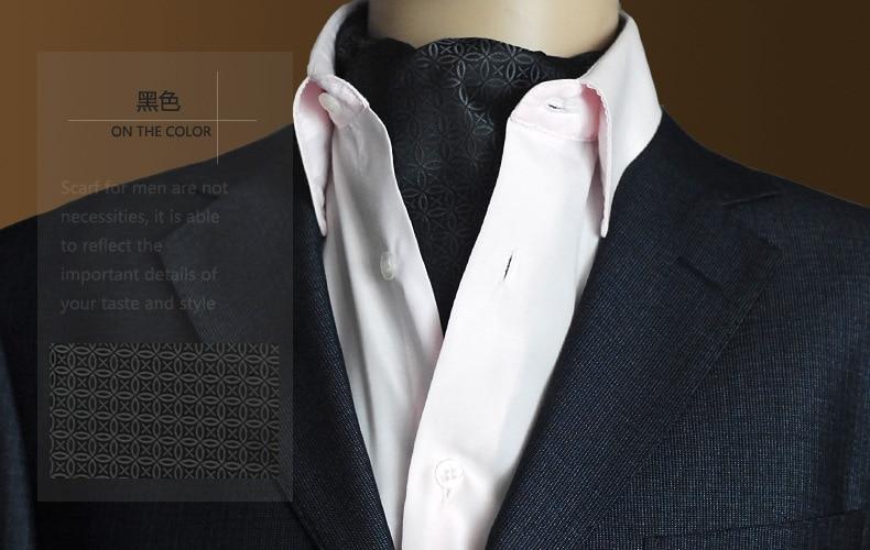 영국 스타일의 ascot 넥타이 고품질 남성 복고풍 패턴 셔츠 Neckerchief Paisley Floral Cravat Jacquard