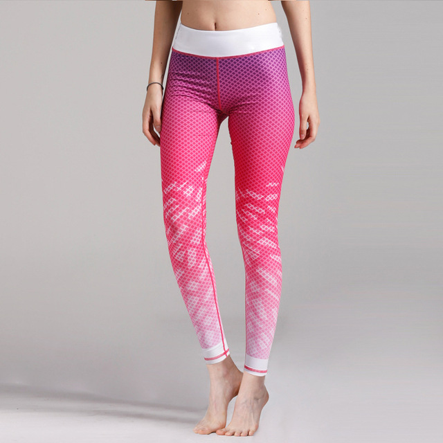 db3ed0b3f573be New Arrival Pink Yoga Pants For Women Compression Running Tights Woman  Trousers Yoga Leggings Woman Sport Leggins Gym Pants