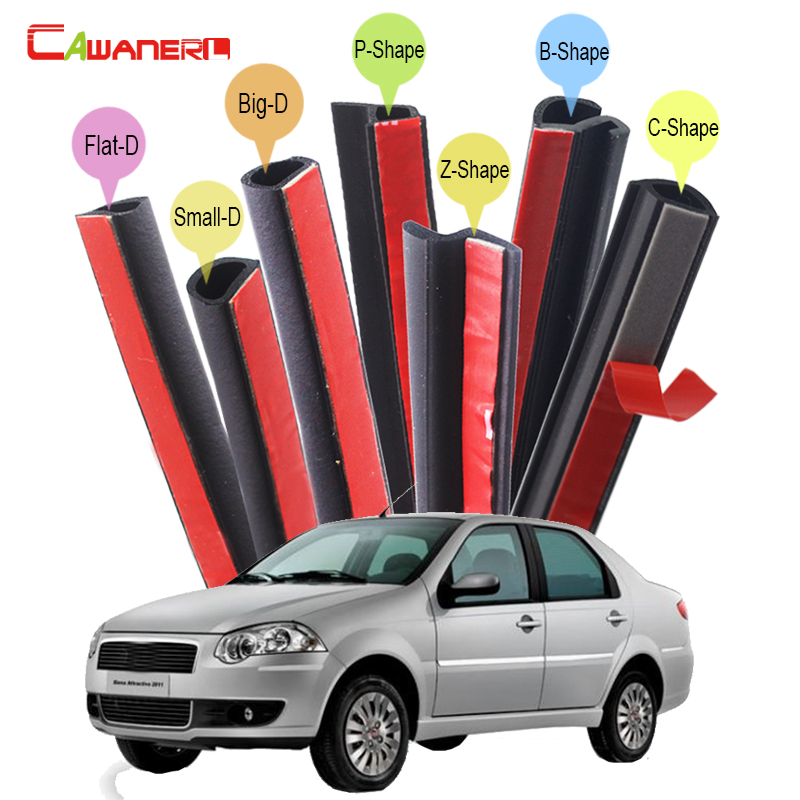 цена на Cawanerl Rubber Car Seal Sealing Strip Kit Seal Edge Trim Weatherstrip For Fiat Perla Palio Weekend Siena Albea Idea