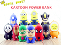 High Quality Super Hero Battery external emergency Man 4500mAh USB power bank charger for iPhone Android Phone Universal Charger
