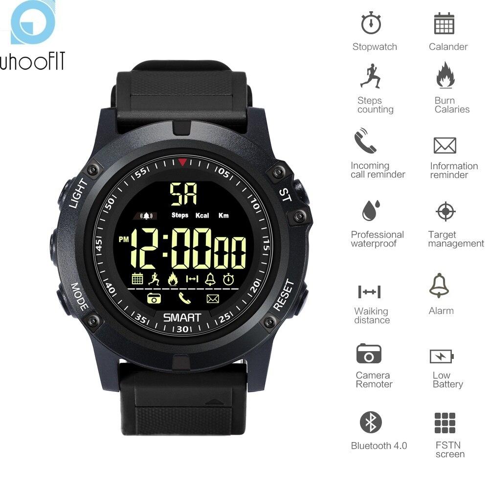 UHOOFIT DX17s deportes reloj inteligente Bluetooth reloj de los hombres 50 m podómetro impermeable de llamadas mensaje recordatorio Smartwatch para Android IOS
