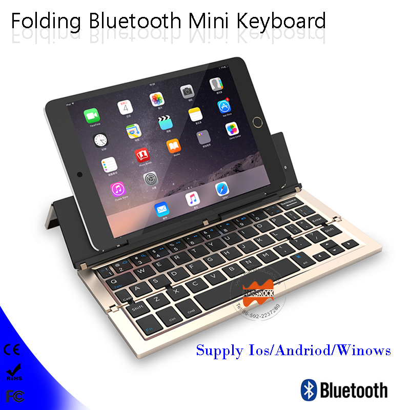 Folding portable Bluetooth 3.0 Wireless Laptop Tablet Phone Mini Keyboard for Android IOS Mac Windows