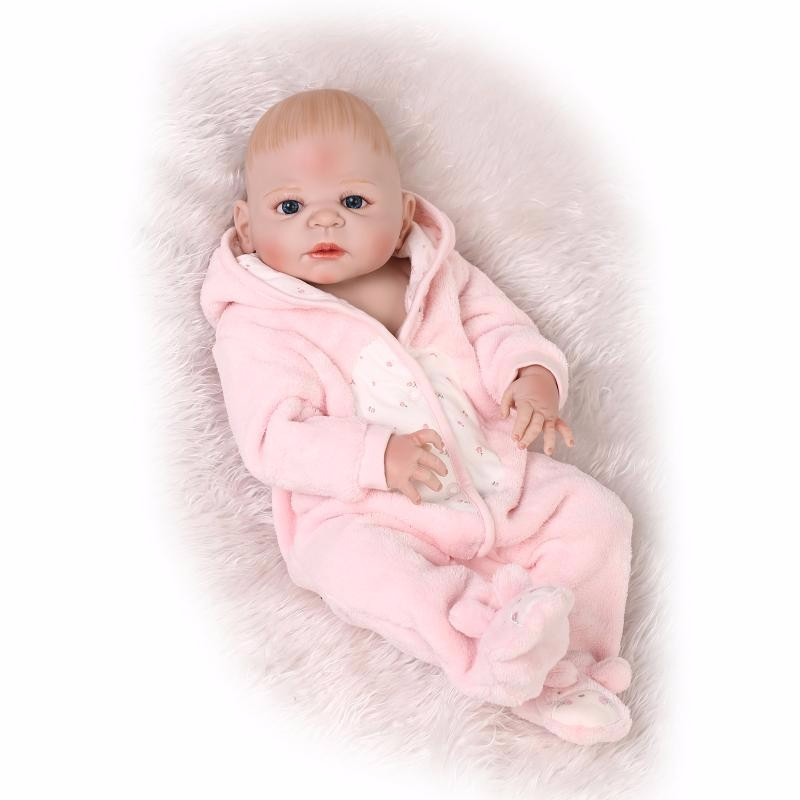 NPKCOLLECTION 55cm Silicone Reborn Baby Doll Toys Lifelike Newborn Bebe Girl Doll Birthday Gift Bathe Play House Bedtime Toy 55cm silicone reborn baby doll toy lifelike npkcollection baby reborn doll newborn boys babies doll high end gift for girl kid