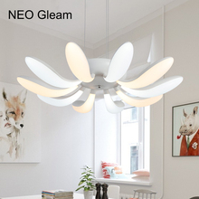 NEO Gleam White Color Led Hanging Pendant Chandeliers For Living Dining Room Kitchen Modern Led Chandelier Fixture Free Shipping
