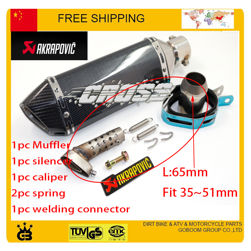 ФОТО Universal  125cc 200cc 250cc 400cc 600cc CBR YZF YBR TTR IRBIS akrapovic exhaust motorcycle exhaust pipe accessories