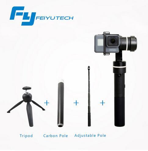 Feiyu G5 Ручные стабилизаторы для GoPro Hero5 5 4 Xiaomi Yi 4 К SJ AEE Действие камеры брызг Bluetooth с поддержкой управления гуманизированные G5