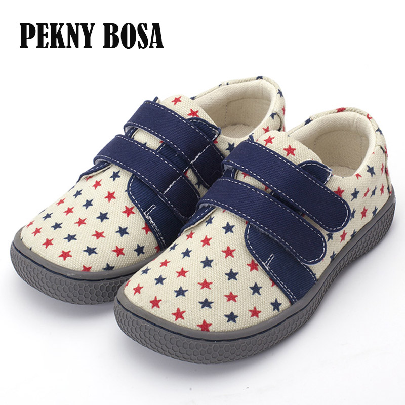 e163e02554ed Pekny Bosa brand kids casual shoes boys girls Loafers Moccasins Children  canvas Sneakers soft shoes for toddler wide fat shoes