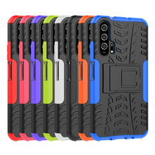 Hybrid Armor Case For Honor 20 YAL-TL00 YAL-AL00 YAL-L21 Case TPU Silicone Cover For Honor 20 Pro YAL-AL10 YAL-AL41 Full Housing yal l41 yal l21 honor 20 pro fashion magnetic business case for huawei honor 20 pro artificial leather wallet flip stand cover
