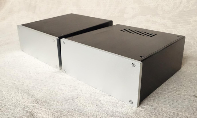 JC229 all aluminum housing can be used as power box / preamp / amplifier chassis case