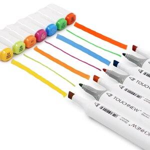 Image 5 - מקצוע אמנות סמני TOUCHNEW מרקר סט 30/40/60/80/168 סט כפול ראשות סמן אמן עבור לצייר מנגה קליגרפיה מברשת עט