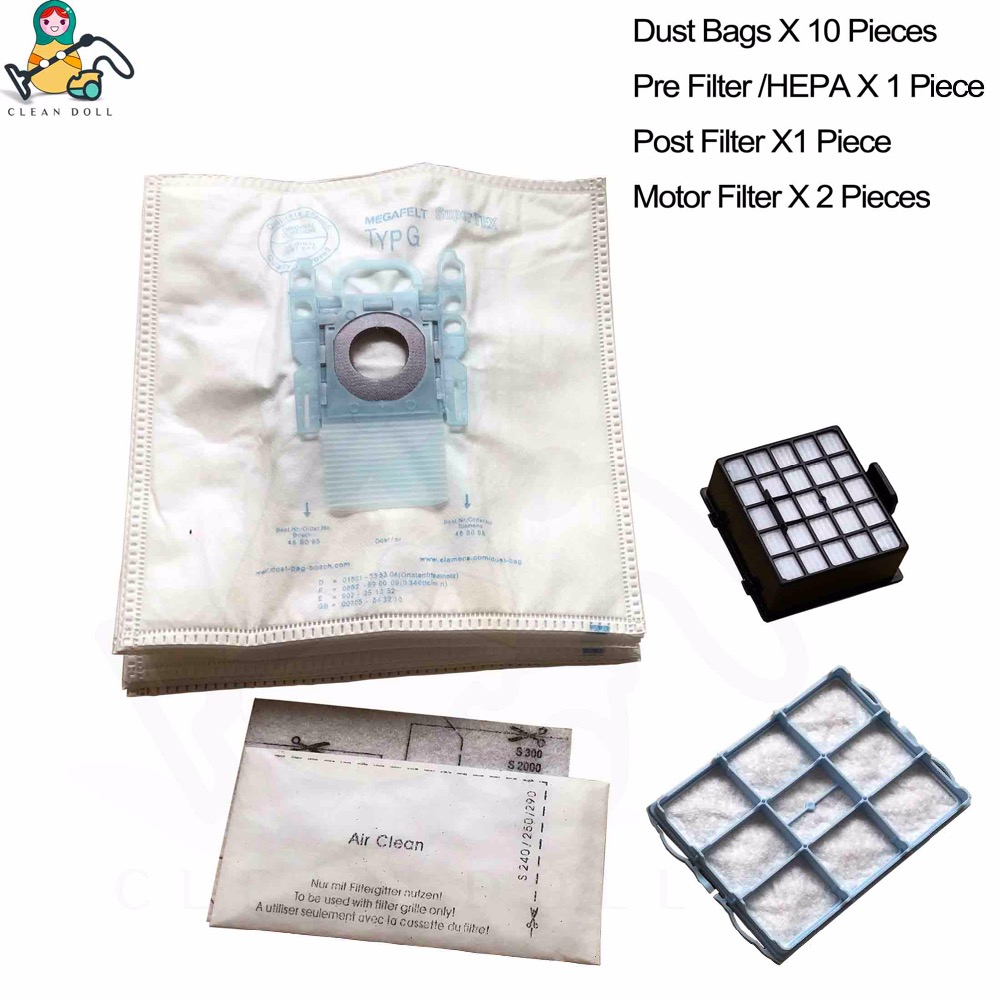 Spare parts motor HEPA Filter Type G bags for BOSCH Bags BSG62185/04 GL-30 BSGL3  Vacuum cleaner accessories