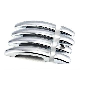 8 unids/set Auto Exterior cromo ABS cubierta de la manija de la puerta Trim lentejuelas Kit de decoración para enfoque 2012-2014 estilo de coche