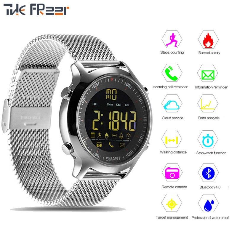 2018 Top Waterproof 5ATM Smart Watch Men Woman Support Call and SMS Alert Sports Activities Tracker Bluetooth Wristwatch Watches