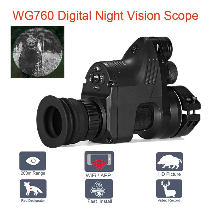 PARD NV007 200 m Digital rango de caza el alcance de la visión nocturna Wifi óptico 5 W IR infrarrojo visión nocturna Riflescope con APP