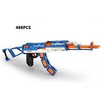 Hot modern military world war Soviet Union AK 47 Rubberband gun building block model bricks assemblage toys collection for kids