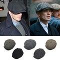 2017 david beckham bonés britânico dos homens mistura de algodão listrado chapéus octogonal cap jornaleiro boina boinas caps para o cavalheiro de alta qualidade