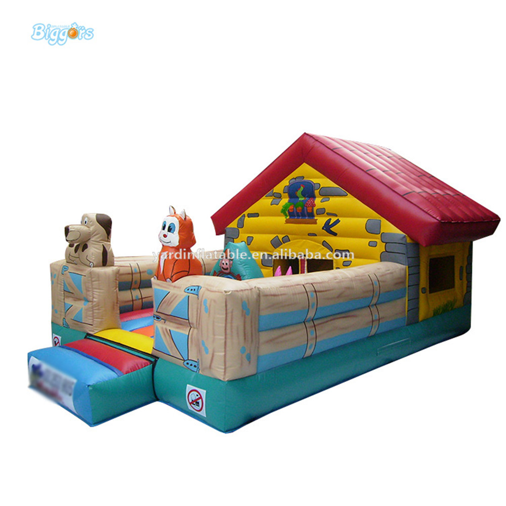 Commercial Grade Inflatable Farm Bounce House For Kids With Blowers commercial sea inflatable blue water slide with pool and arch for kids