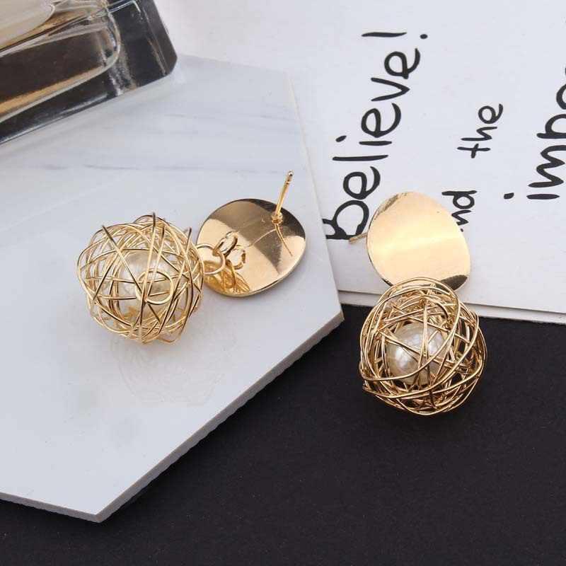 2019 Fashion Statement Earrings 2018 Ball Geometric Earrings For Women Hanging Dangle Earrings Drop Earring Modern Jewelry