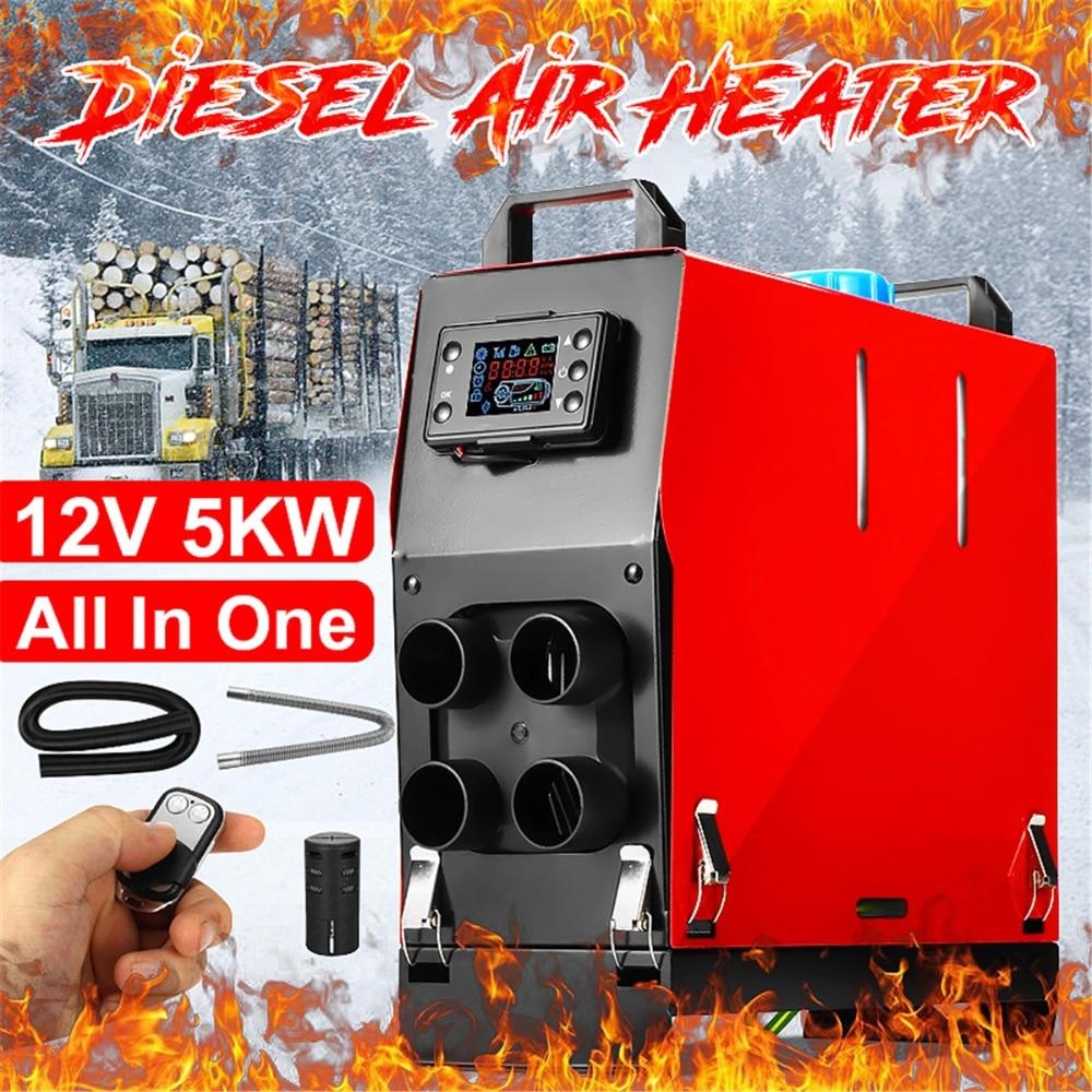 5000 Вт 12 в интеграции четыре отверстия автомобиля Air Дизели парковка нагреватель ЖК дисплей Мониторы с пультом дистанционного управления дл...