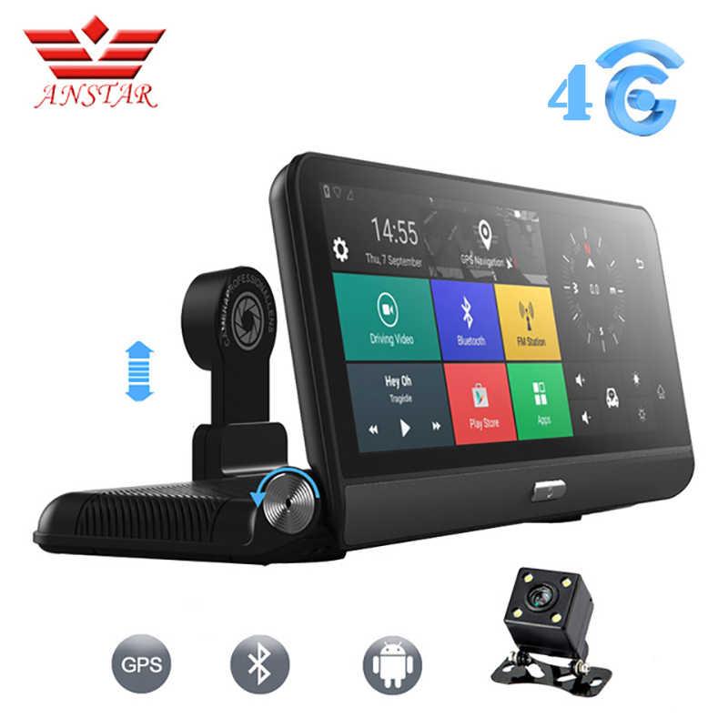 """ANSTAR 車 DVR カメラ 8 """"3 グラム/4 グラム Android 5.1 FHD 1080 1080P WIFI ビデオレコーダー FM GPS 駐車監視デュアルレンズダッシュカムレジストラ"""
