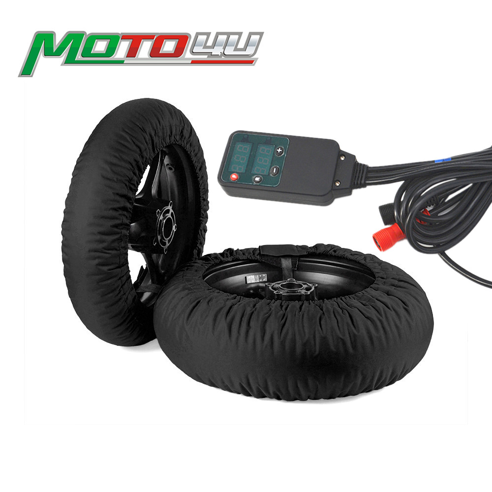 Digital Motorcycle Tire Tyre Warmer Covers Heater Front andRear Race 120//190 200