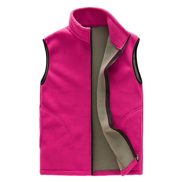 High Quality Womens Full Zip Lightweight Colete Sleeveless Casual Waistcoat Bodywarmer Thermal Fleece Vest Women Outdoors Gilet