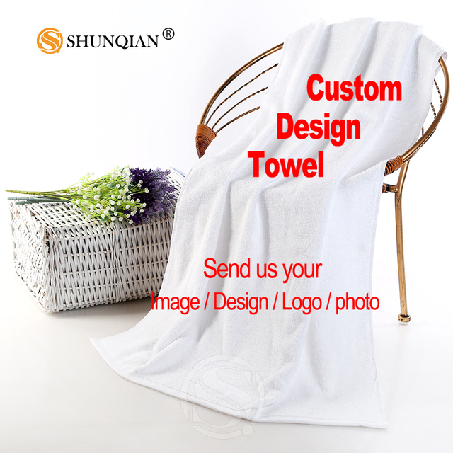 Custom Towels Personalized Image On Bath Towel 35X75cm,70X140cm Customize Own Photo Microfiber Cool Beach/FaceTowel