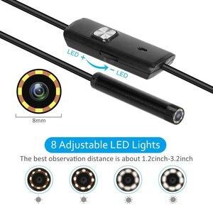 Image 4 - 8mm 2/3/5 m wifi endoscópio câmera 720 p/1080 p mini câmera de inspeção à prova dusb água endoscópio usb ios endoscópio para iphone