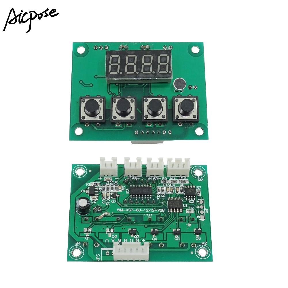 7*12w Motherboard 4/8 Channel Large Button 7x12W/6x12w/5x12w/12x12w LED PAR Motherboard Voltage 12-36V Par Led RGBW 4 In 1