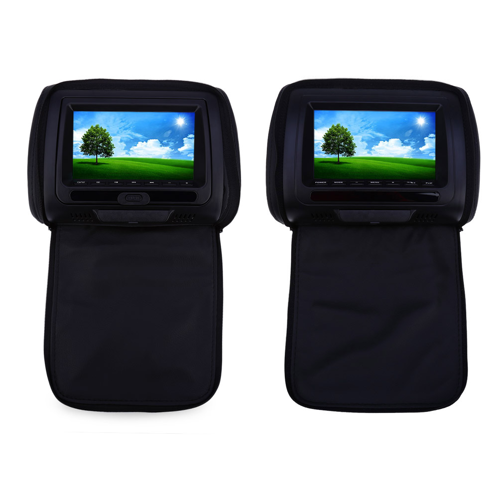 Paired XD783 7 Inch Universal Car Headrest DVD Player LCD Screen Backseat Monitor Remote Control FM transmitter Car Players car headrest dvd player 800 x 480 lcd screen backseat monitor xd9906 9 inch universal full functional remote control super slim