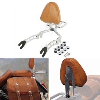 Motorcycle Sissy Bar Passenger Backrest + Mouting Spools For Indian Scout 15-19 Sixty 16-19 2020