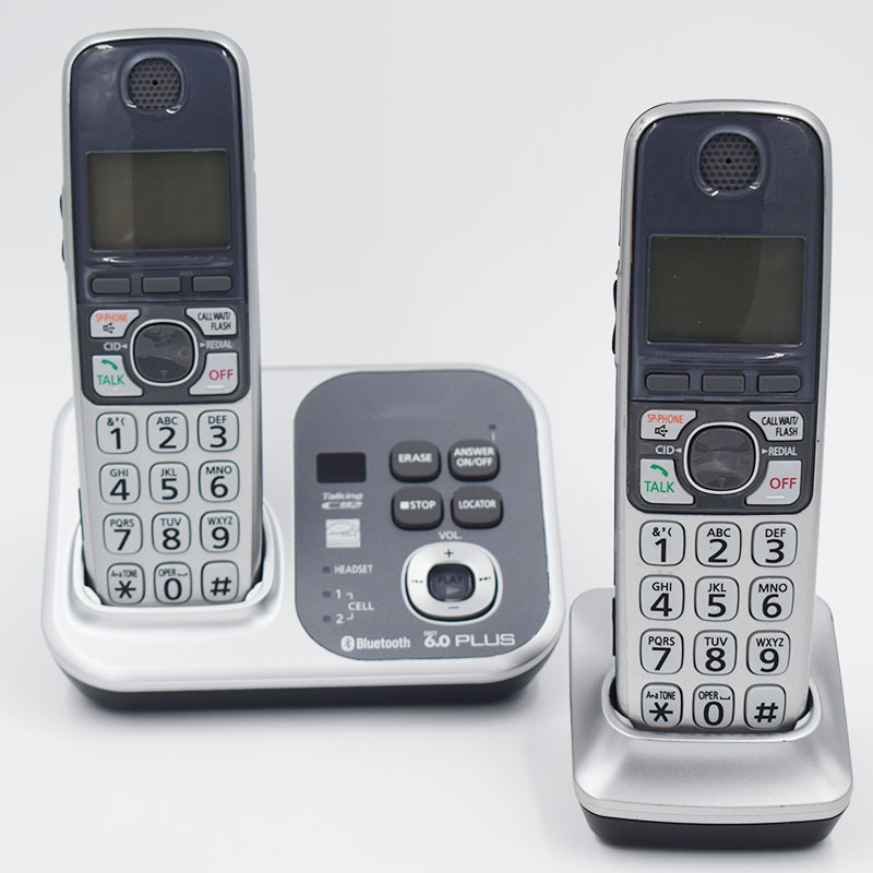2 combinés KX-TG7731S Numérique sans fil téléphone DECT 6.0 Lien Cellulaire via Bluetooth téléphone Sans Fil avec répondeur