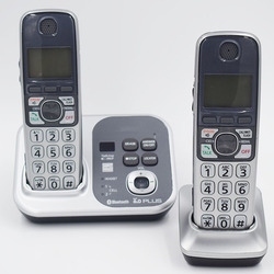 2 słuchawki KX TG7731S cyfrowy bezprzewodowy telefon DECT 6.0 Link do komórki przez Bluetooth bezprzewodowy telefon z systemem odpowiedzi|link to cell|bluetooth cordless telephonecordless telephone -